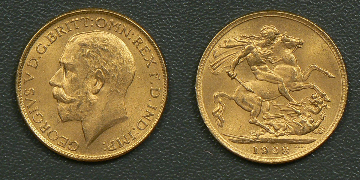 Counterfeit gold sovereign