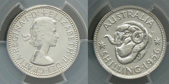 1956 proof shilling