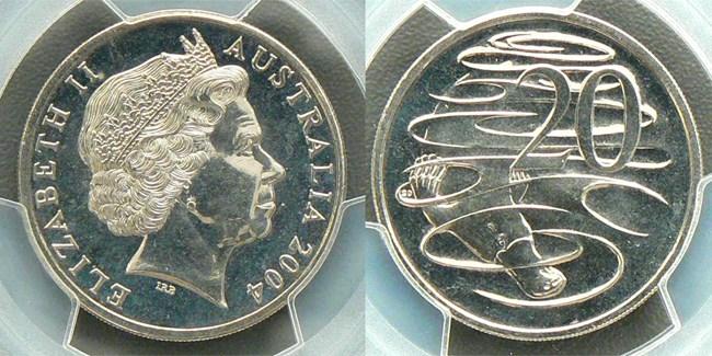 2004 large head twenty cent