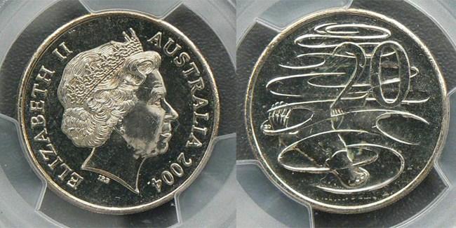 2004 small head twenty cent