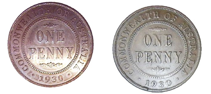 1930 penny fake and real