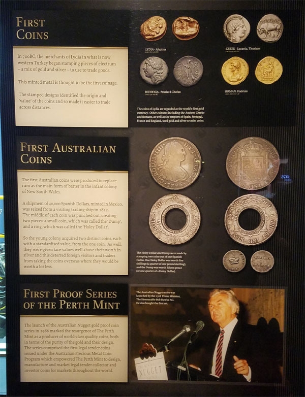 Australia's first coins