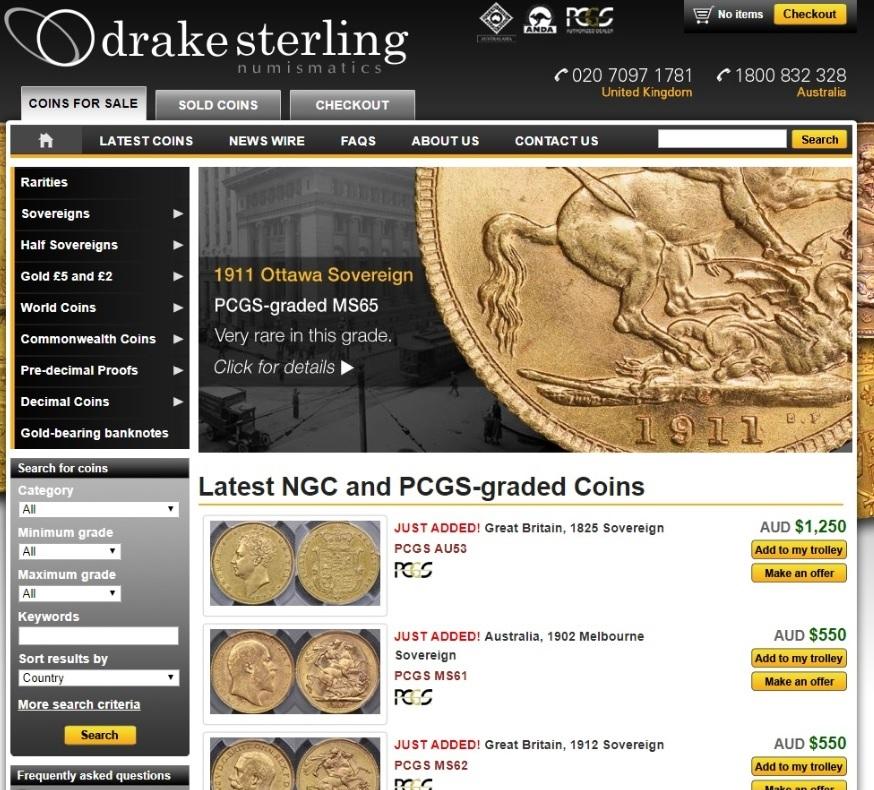 Drake Sterling website