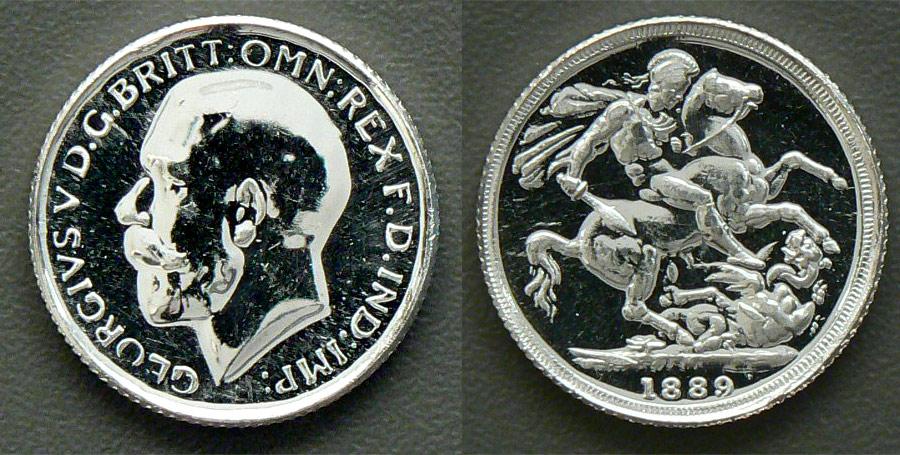 Fake silver sovereign