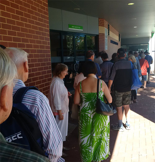Perth ANDA Coin Show lines