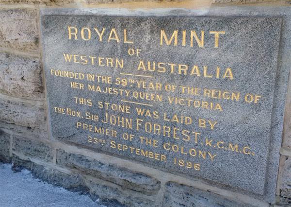 Perth Mint foundation stone