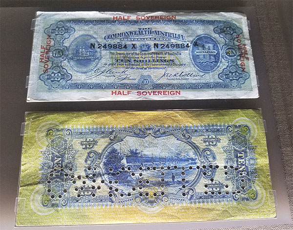 Australia's first ten shilling banknote