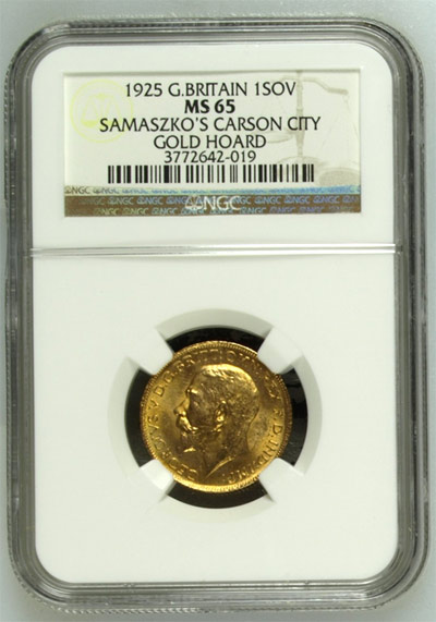 1925 Gold Sovereign Samaszko